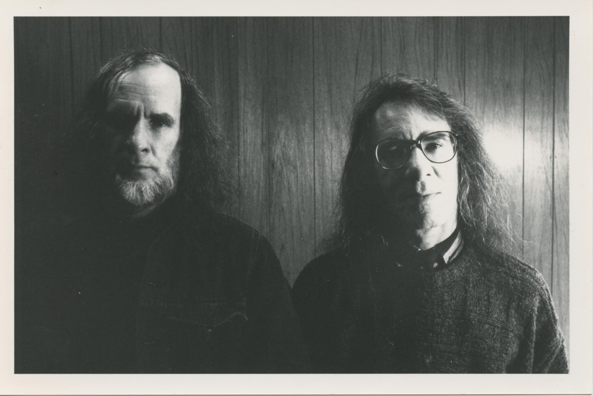 Marcel et François Hébert en 1988. Photo: Marc-André Gagnon.